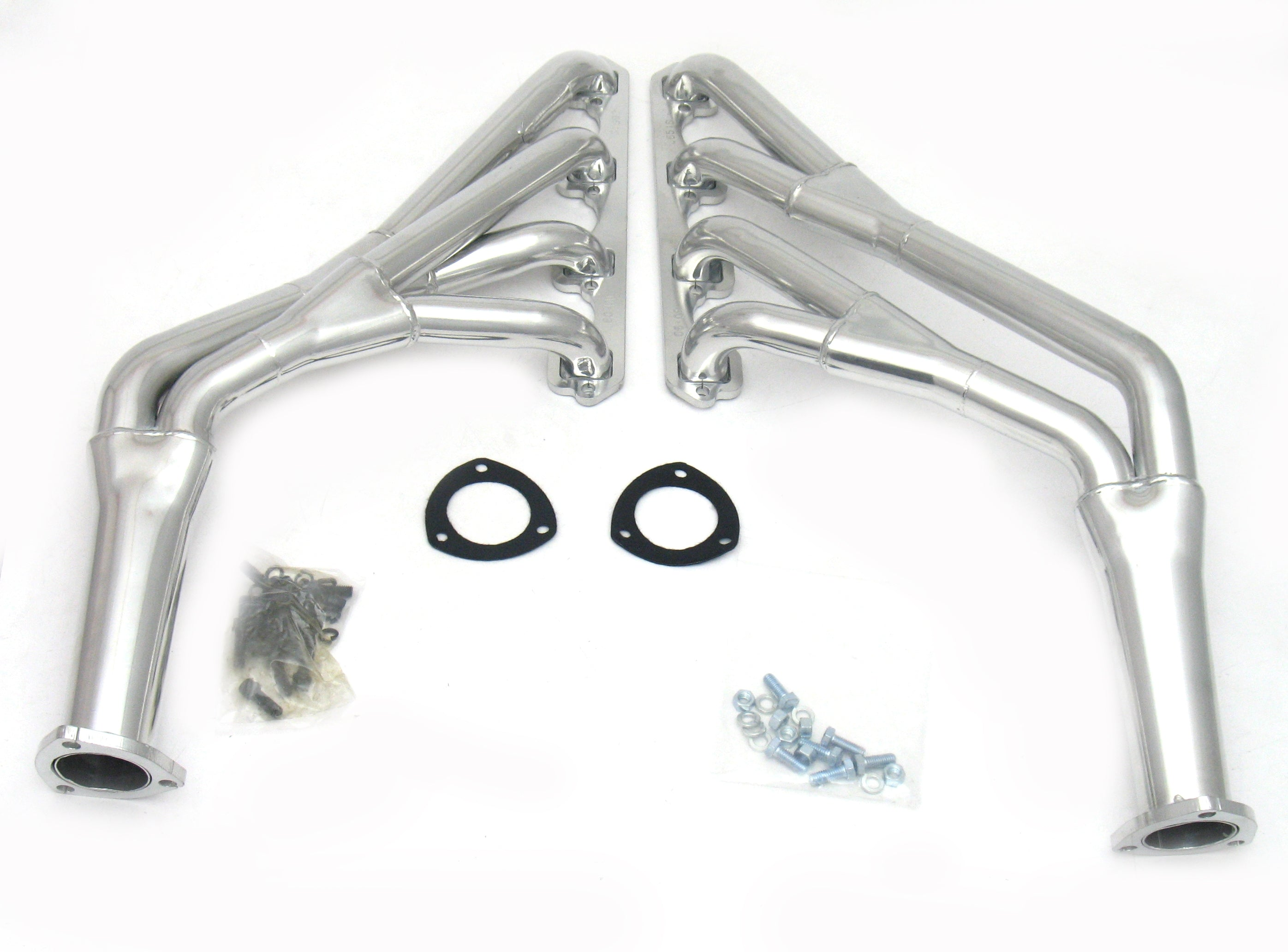 "JBA Performance Exhaust 6651SJS 1 1/2"" Long Tube Stainless Steel 65-70 Mustang 289/302 Tri-Y Silver Ceramic"