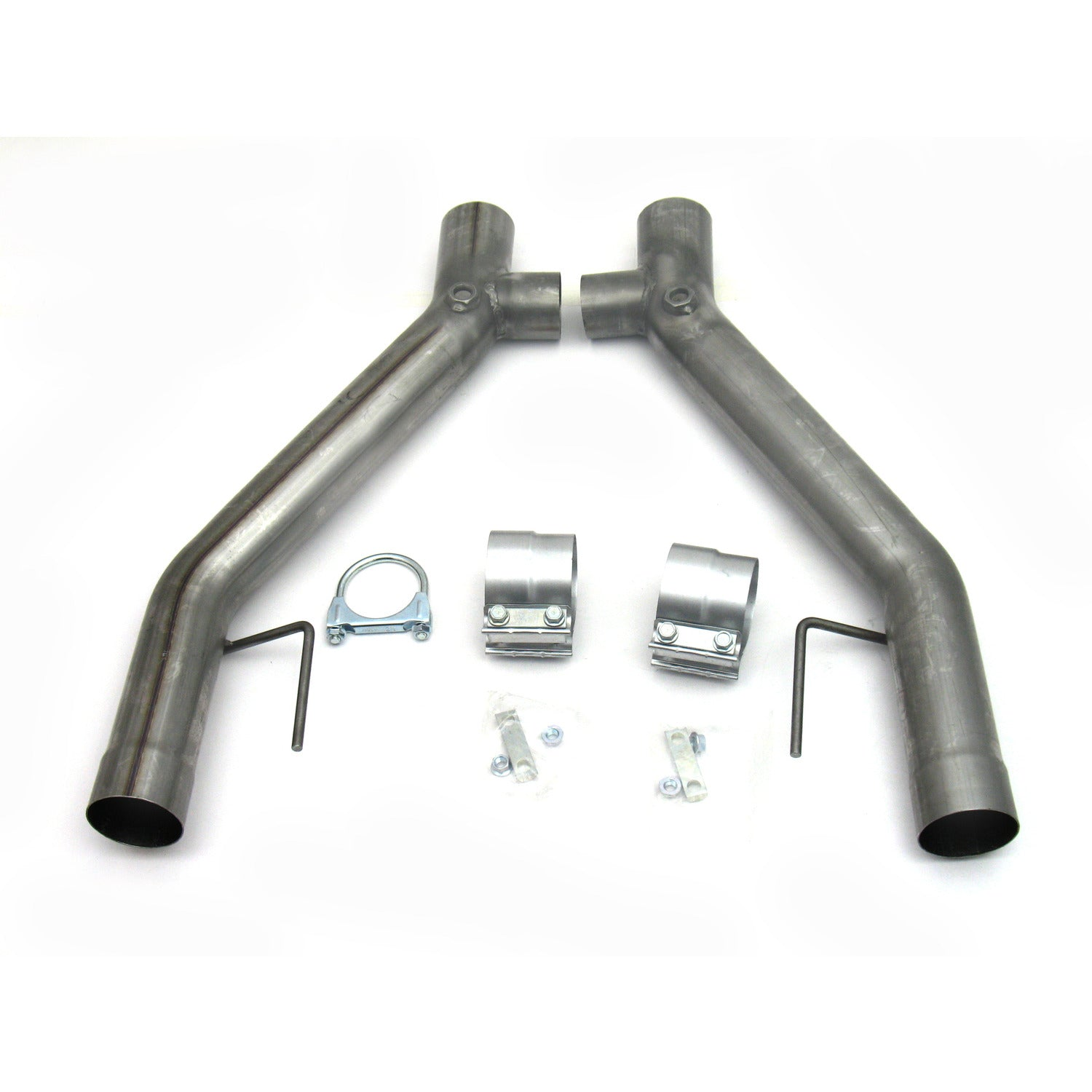 "JBA Performance Exhaust 6673SH 3"" Stainless Steel Mid-Pipe 2005-10 Mustang GT H-Pipe w/o cats for use with 6673 series Long Tube Headers"