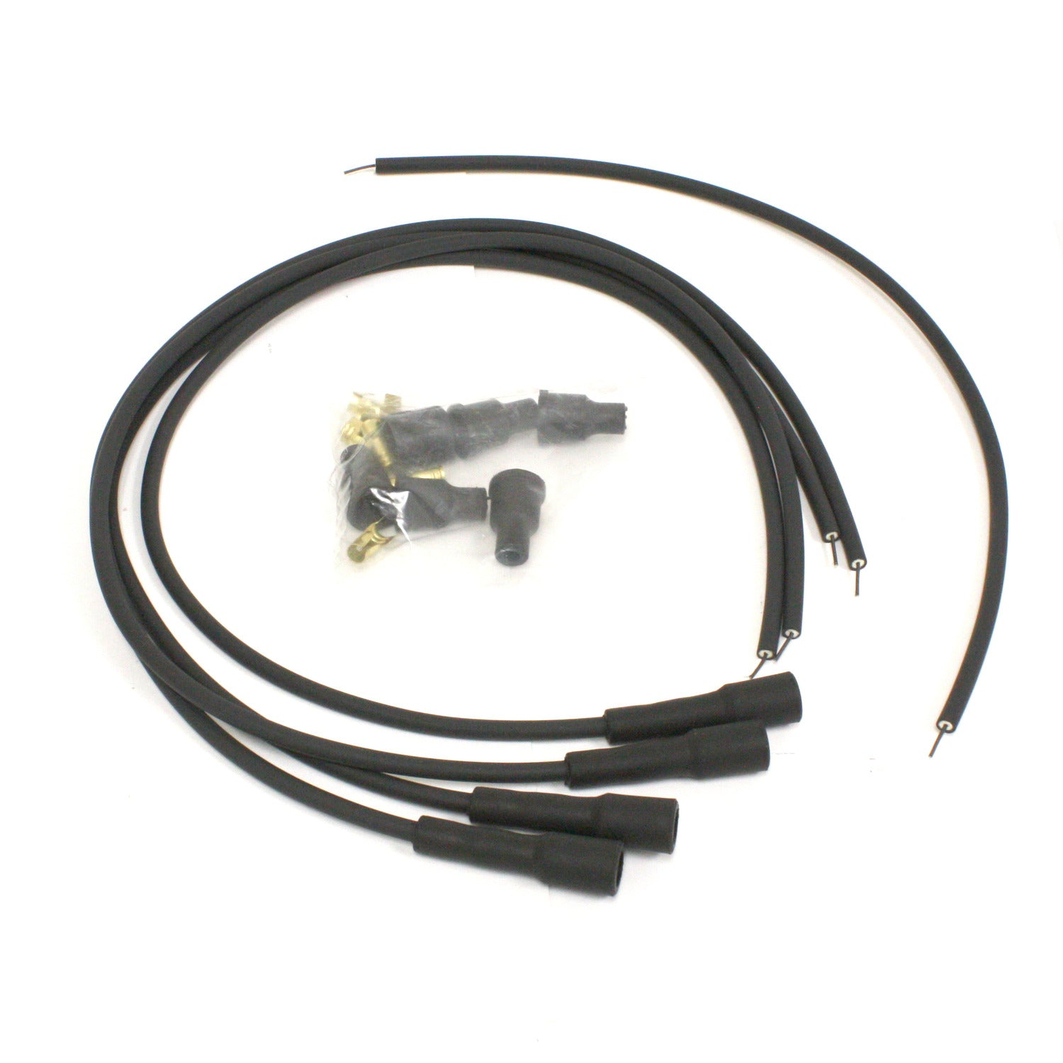 PerTronix 704180 Flame-Thrower Spark Plug Wires 4 cyl British Universal 180 Degree Black