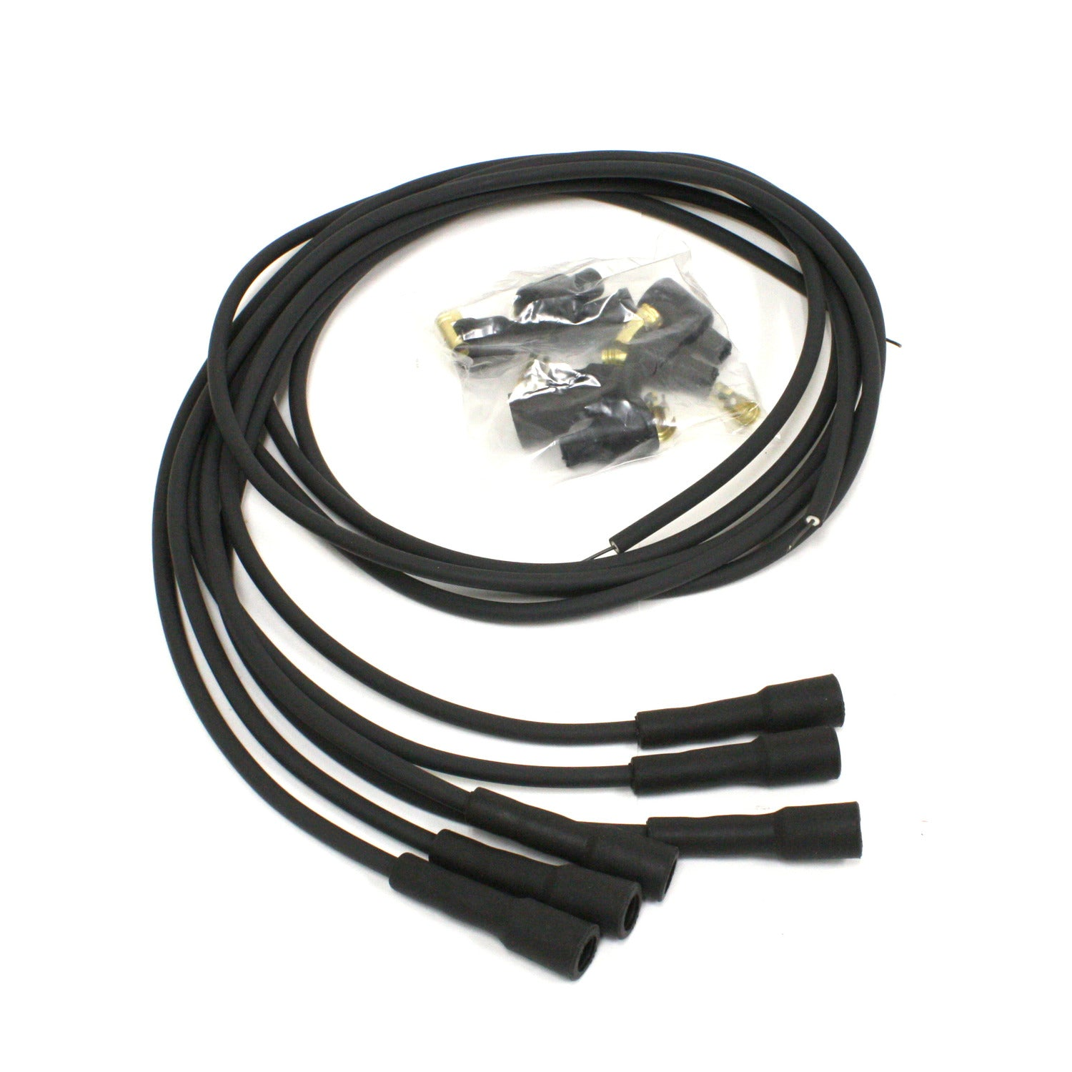 PerTronix 706180 Flame-Thrower Spark Plug Wires 6 cyl British Universal 180 Degree Black