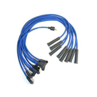 PerTronix 808321 Flame-Thrower Spark Plug Wires 8 cyl 8mm Ford 289-302W Male Cap Blue