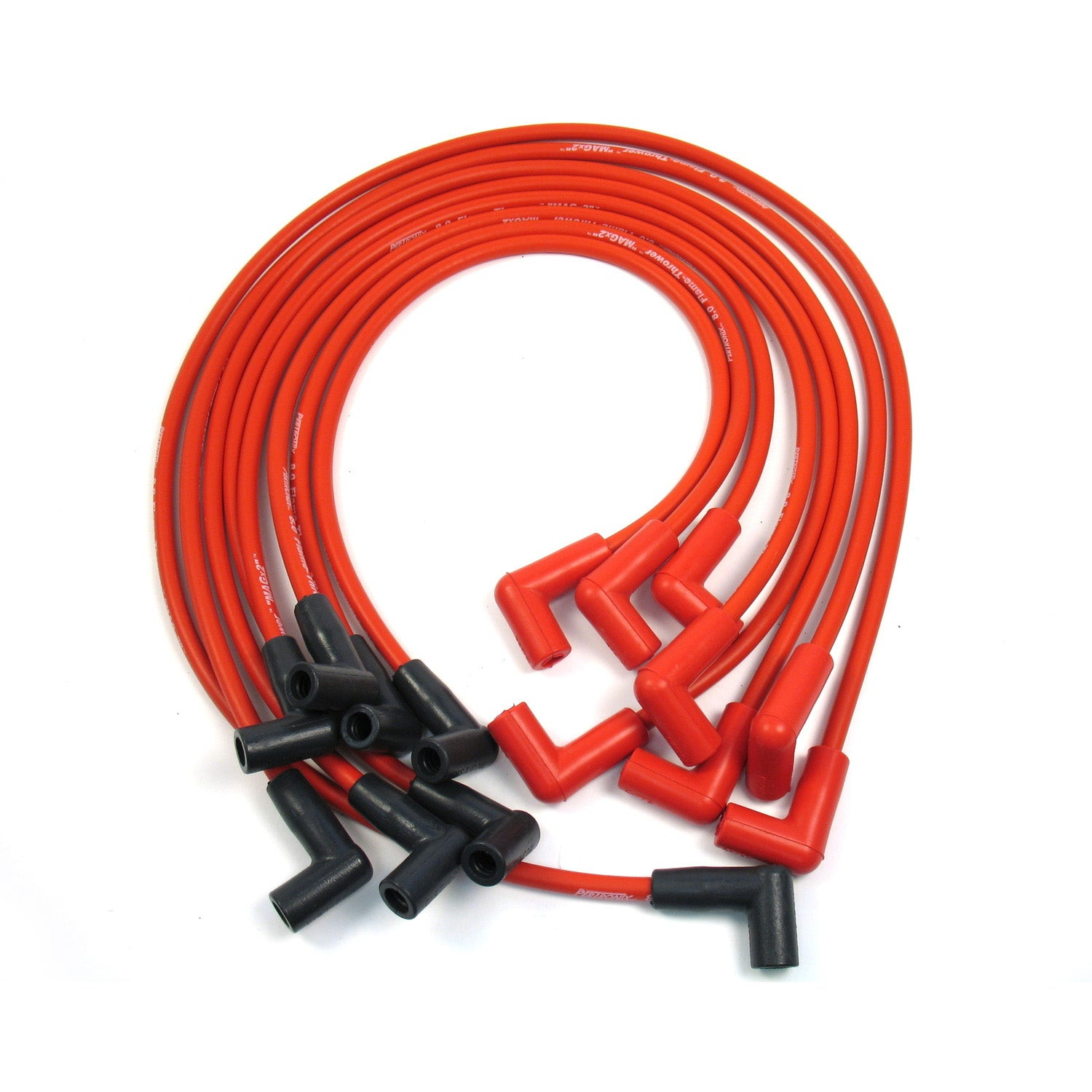 PerTronix 808412 Flame-Thrower Spark Plug Wires 8 cyl 8mm GM HEI Custom Fit Red