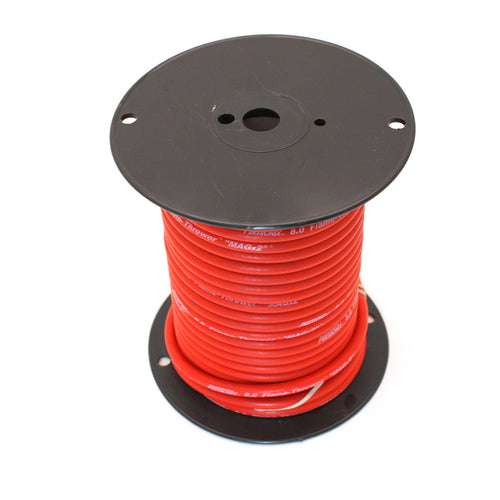PerTronix 80S410 Flame-Thrower Spark Plug Wire 8mm Red with White Script 100 Foot Spool