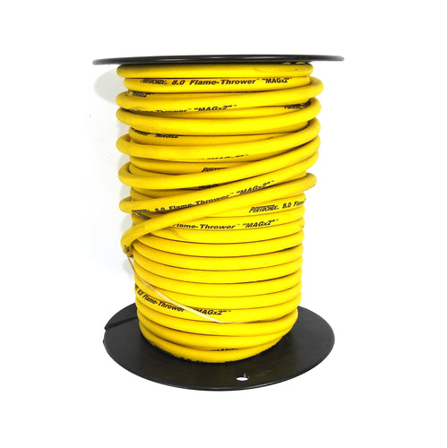 PerTronix 80S510 Flame-Thrower Spark Plug Wire 8mm Yellow with Black Script 100 Foot Spool