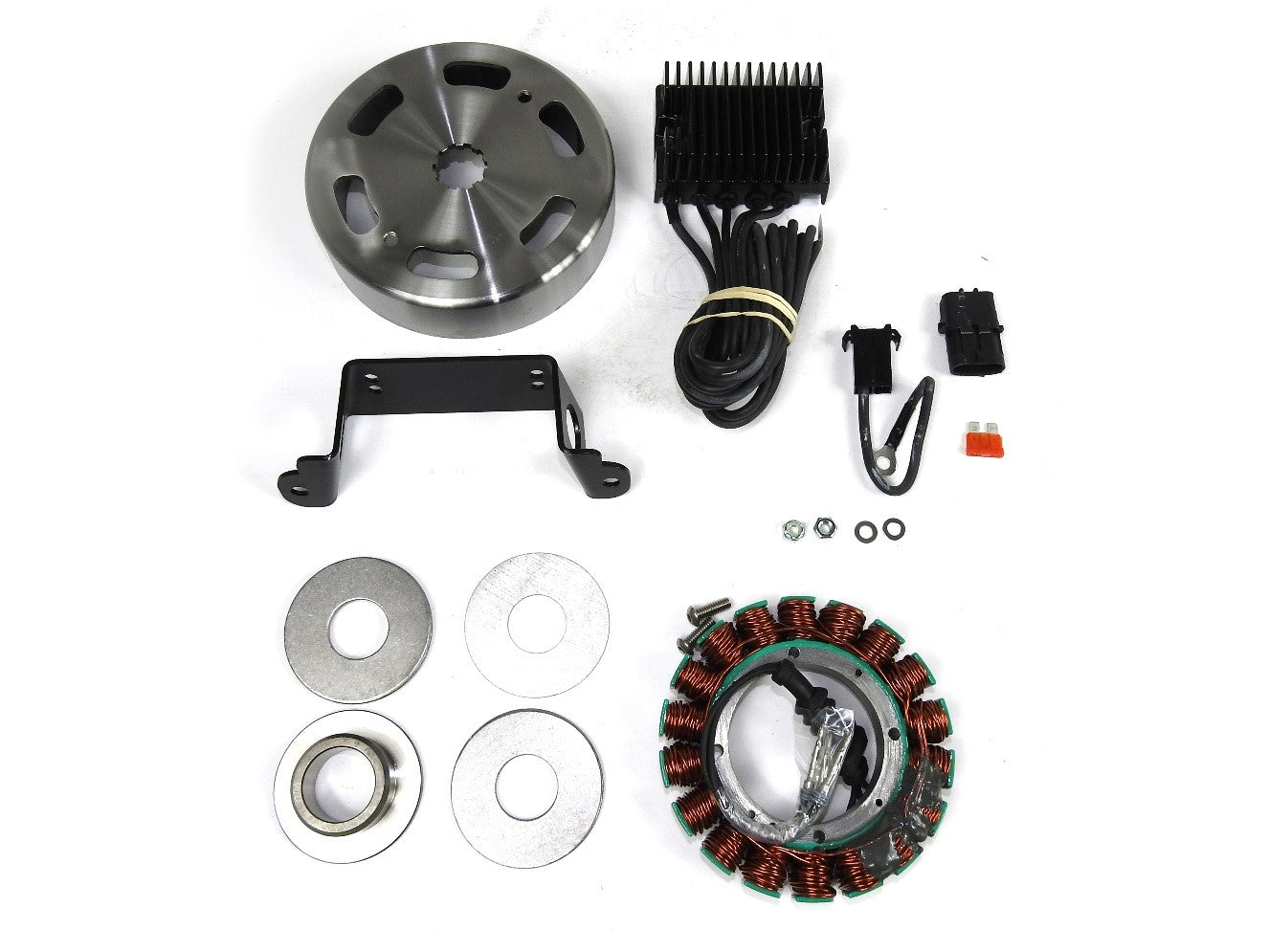 Compu-Fire 55566 - Charging System Kit with Vented Rotor for 99-02 Twin Cam Harley® Models
