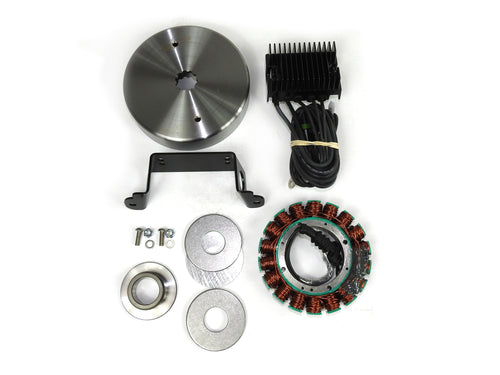 Compu-Fire 55576 - Charging System Kit with Non-Vented Rotor for 99-02 Twin Cam Harley® Models