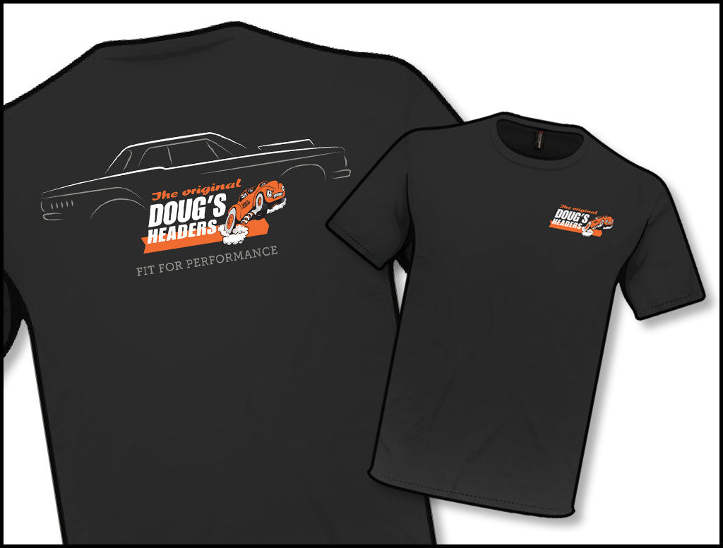 Doug's Headers TS705 Black Profile T-Shirt