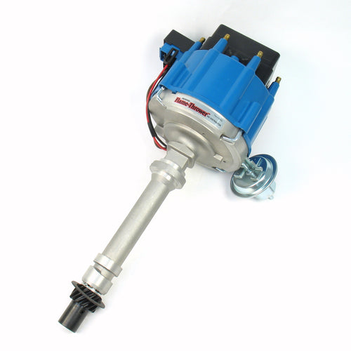 PerTronix D1002 Flame-Thrower Distributor HEI Chevrolet Small Block/Big Block Blue Cap