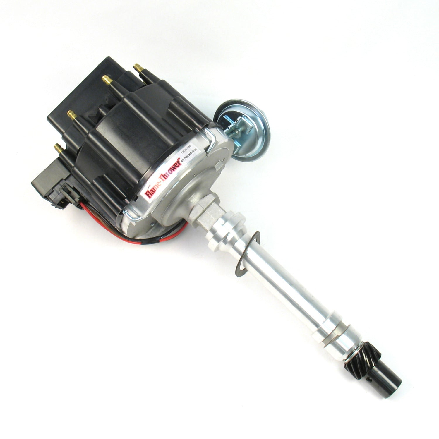 PerTronix D1050 Flame-Thrower Distributor HEI Chevrolet Small Block/Big Block Black Cap Machine Polished
