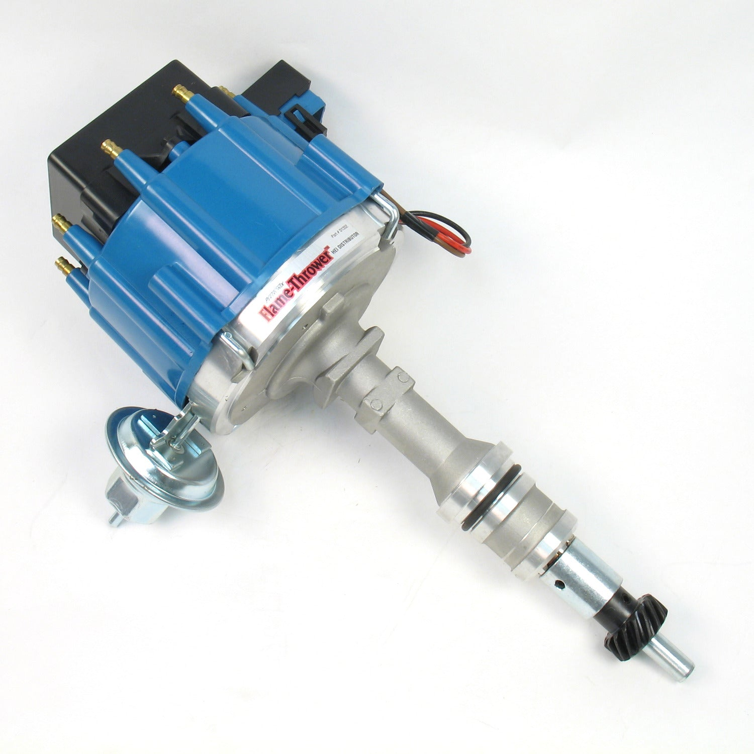 PerTronix D1352 Flame-Thrower Distributor HEI Ford Small Block 221-302 Blue Cap Machine Polished