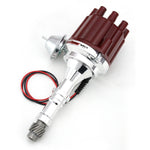 PerTronix D150701 Flame-Thrower Electronic Distributor Billet Buick V8 Plug and Play with Ignitor II Technology Vacuum Advance Red Cap