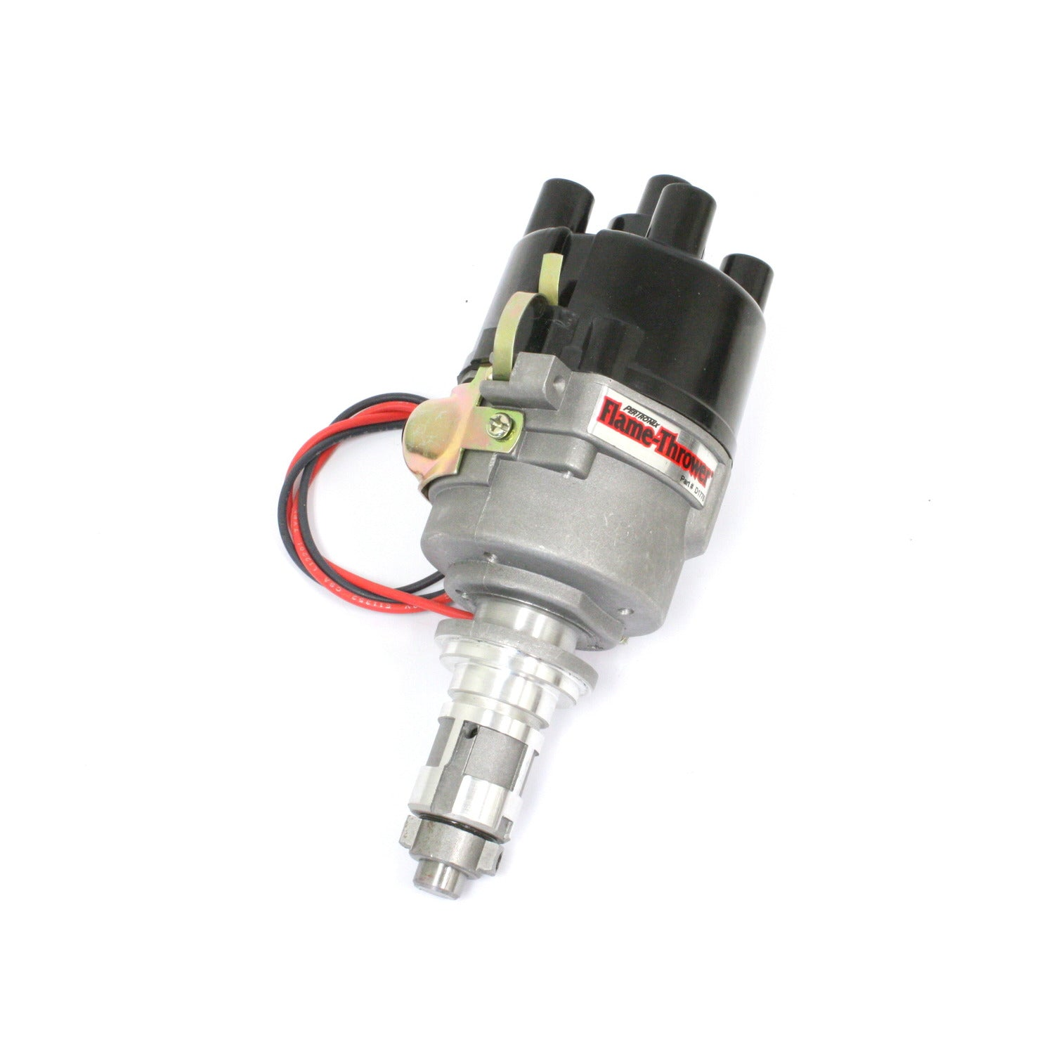 PerTronix D174128 Flame-Thrower Electronic Distributor Cast British A+ 4 cyl Plug and Play non Vacuum Advance