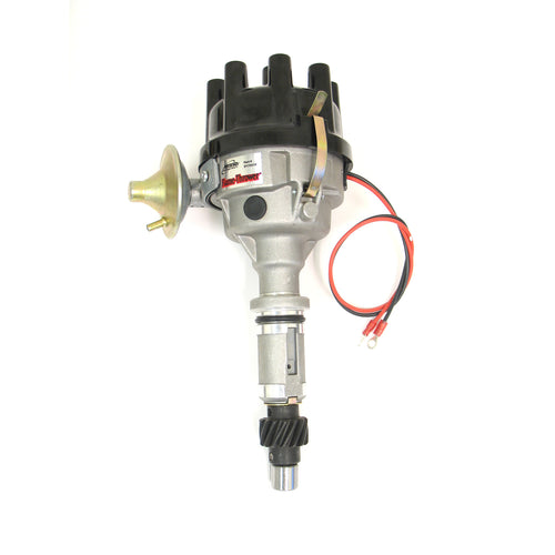 PerTronix D174510 Flame-Thrower Electronic Distributor Cast Rover 8 cyl Plug and Play with Ignitor II Vacuum Advance