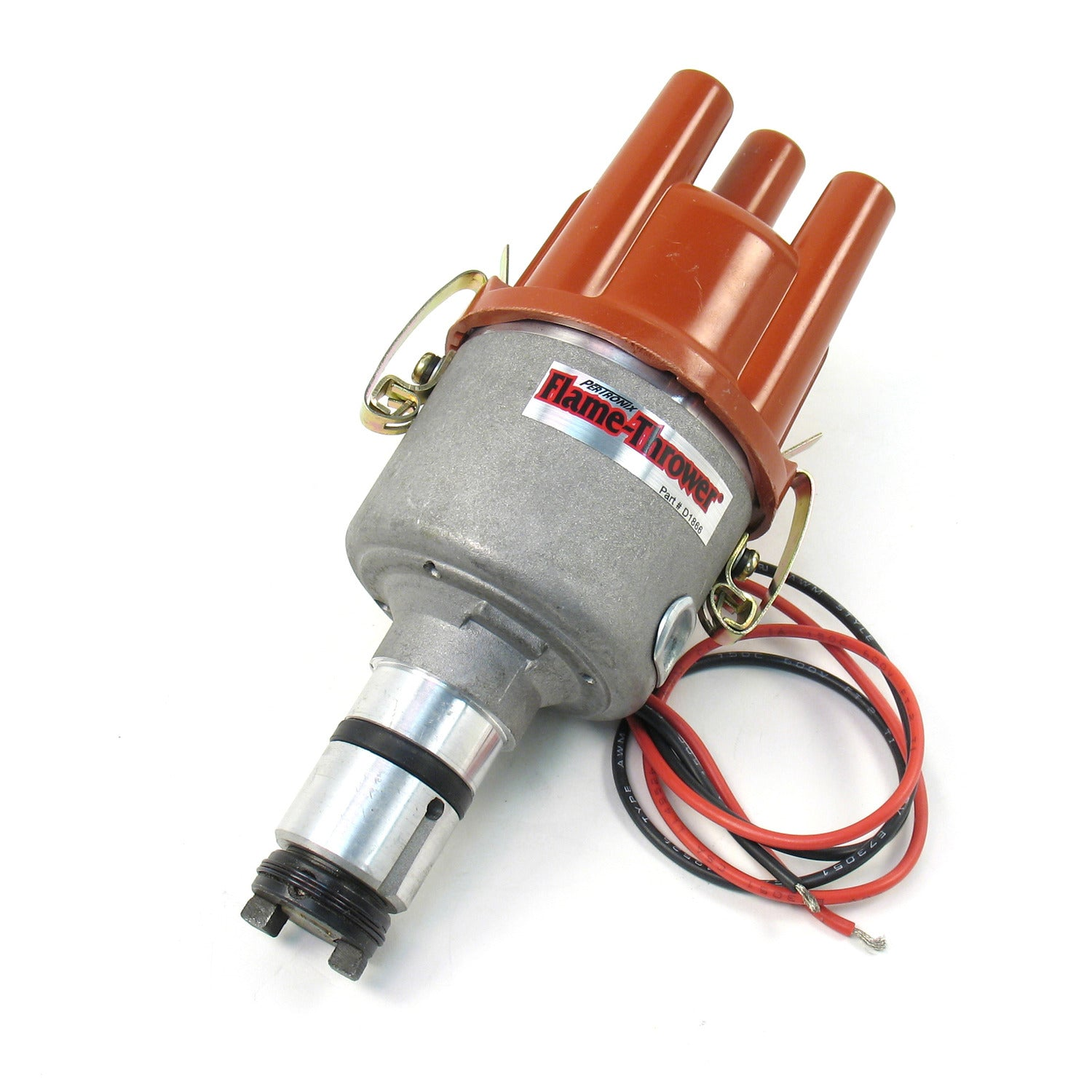 PerTronix D182604 Flame-Thrower Electronic Distributor Cast VW Type 1 Engine Plug and Play with Ignitor II Non Vacuum