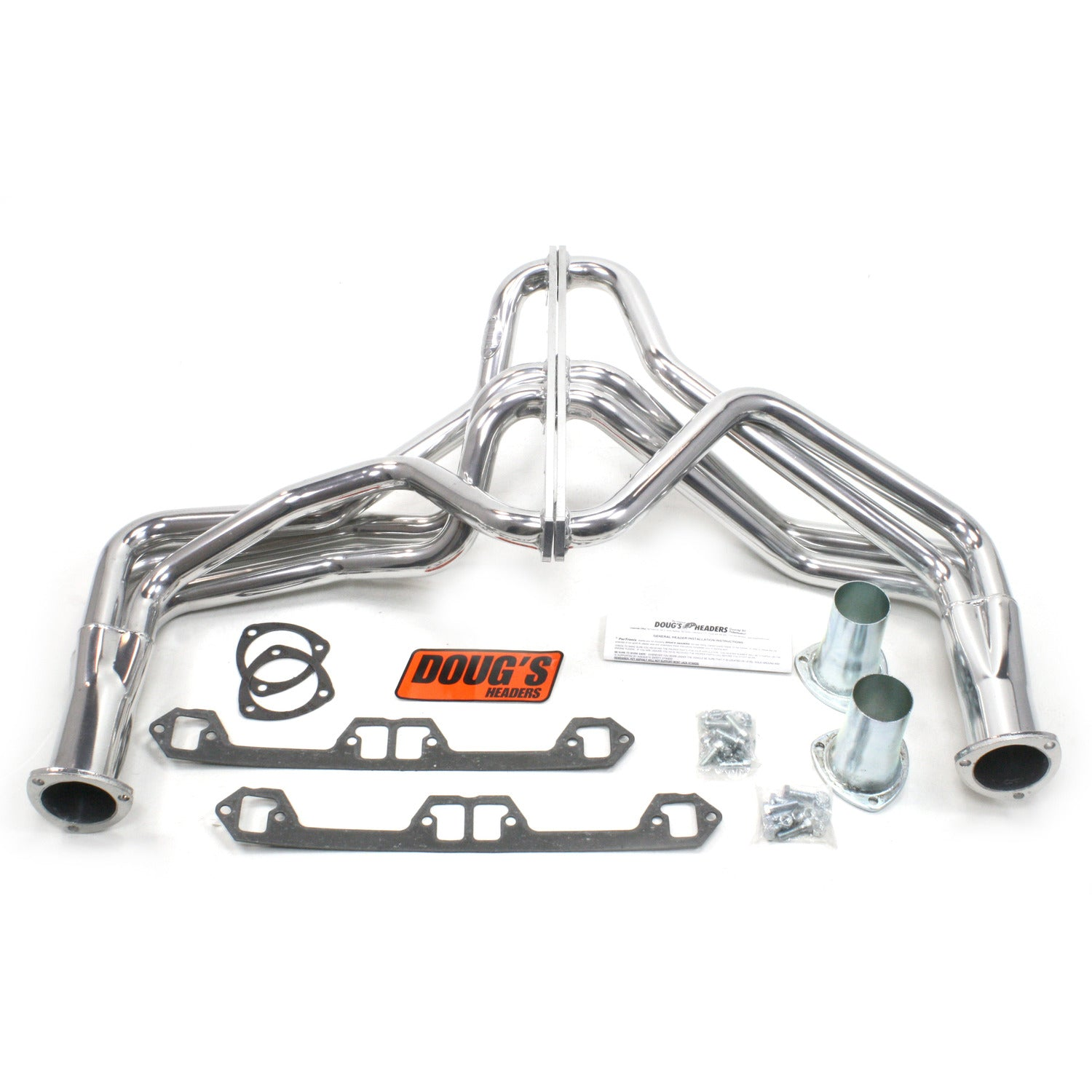 "Doug's Headers D190 1 5/8"" 4-Tube Full Length Header AMC Jeep V8 72-80 Metallic Ceramic Coating"