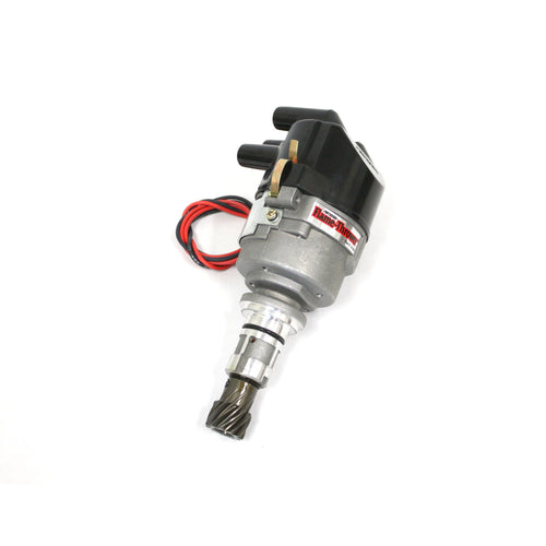 PerTronix D196509 Flame-Thrower Electronic Distributor Cast Ford X-Flow 4 cyl Plug and Play with Ignitor Non Vacuum Side Cap