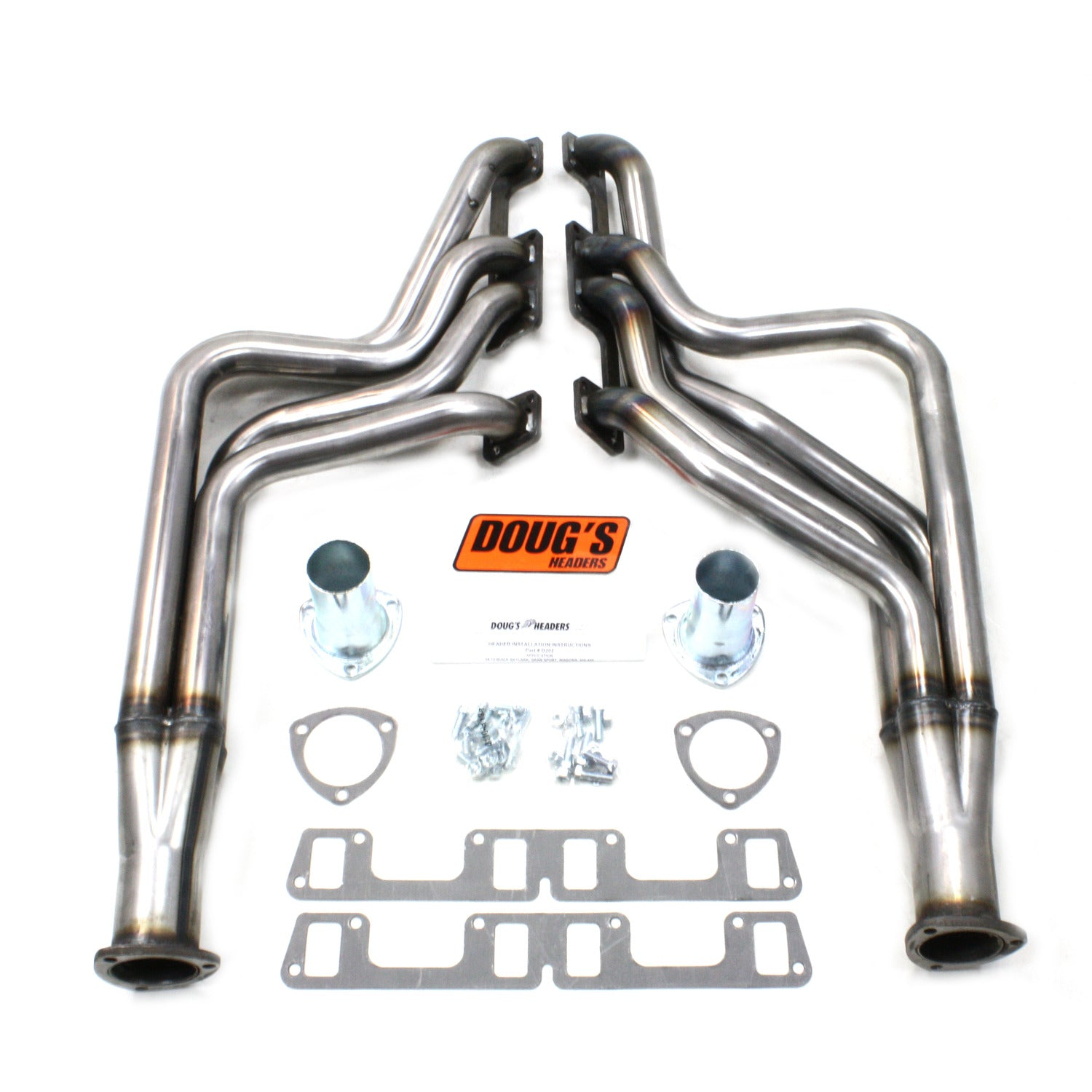 "Doug's Headers D202-R 1 7/8"" 4-Tube Full Length Header Buick Skylark 400-455 68-72 Raw Steel"