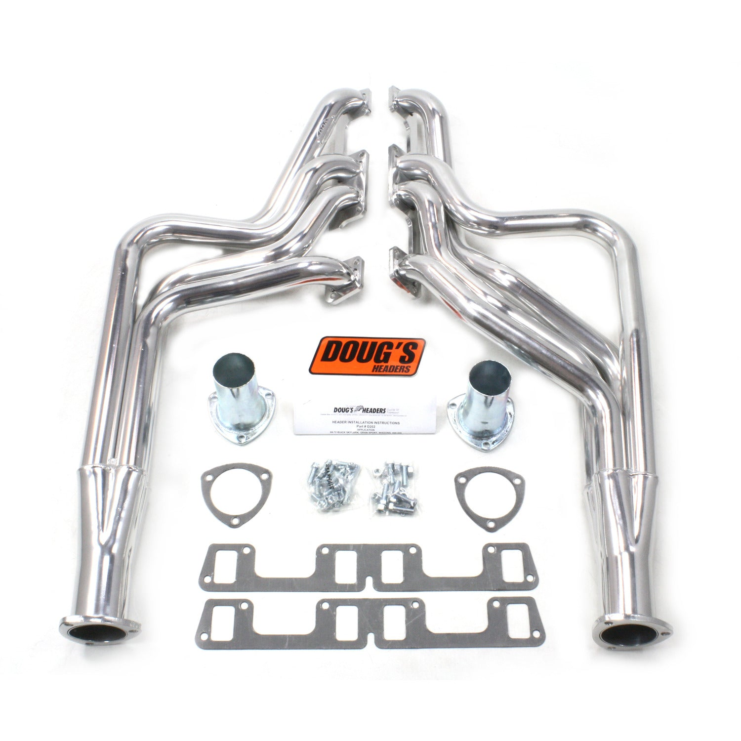 "Doug's Headers D202 1 7/8"" 4-Tube Full Length Header Buick Skylark 400-455 68-72 Metallic Ceramic Coating"
