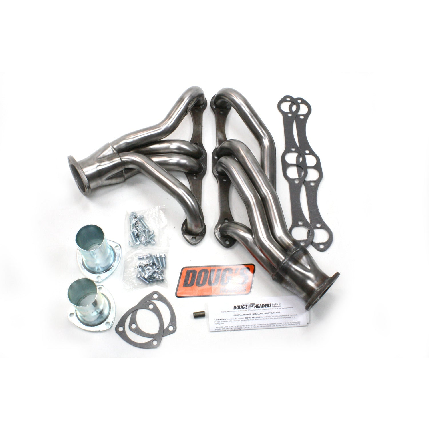 "Doug's Headers D305-R 1 5/8"" 4-Tube Shorty Header Chevrolet 67-81 Camaro 64-77 Chevelle/Malibu 64-77 El Camino 70-77 Monte Carlo 71-94 Passenger Car/Wagon 265-400 Chevrolet Engine Raw Steel"