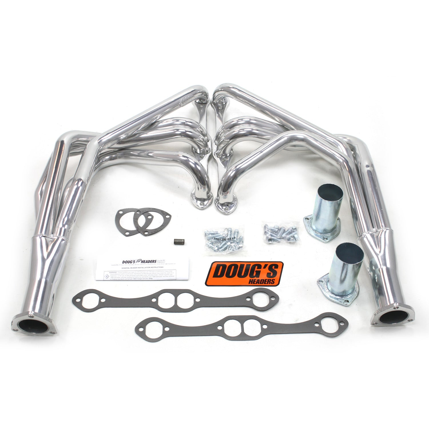 "Doug's Headers D315  1 5/8"" 4-Tube Full length Header Chevrolet Corvette Small Block Chevrolet 55-62 Metallic Ceramic Coating"