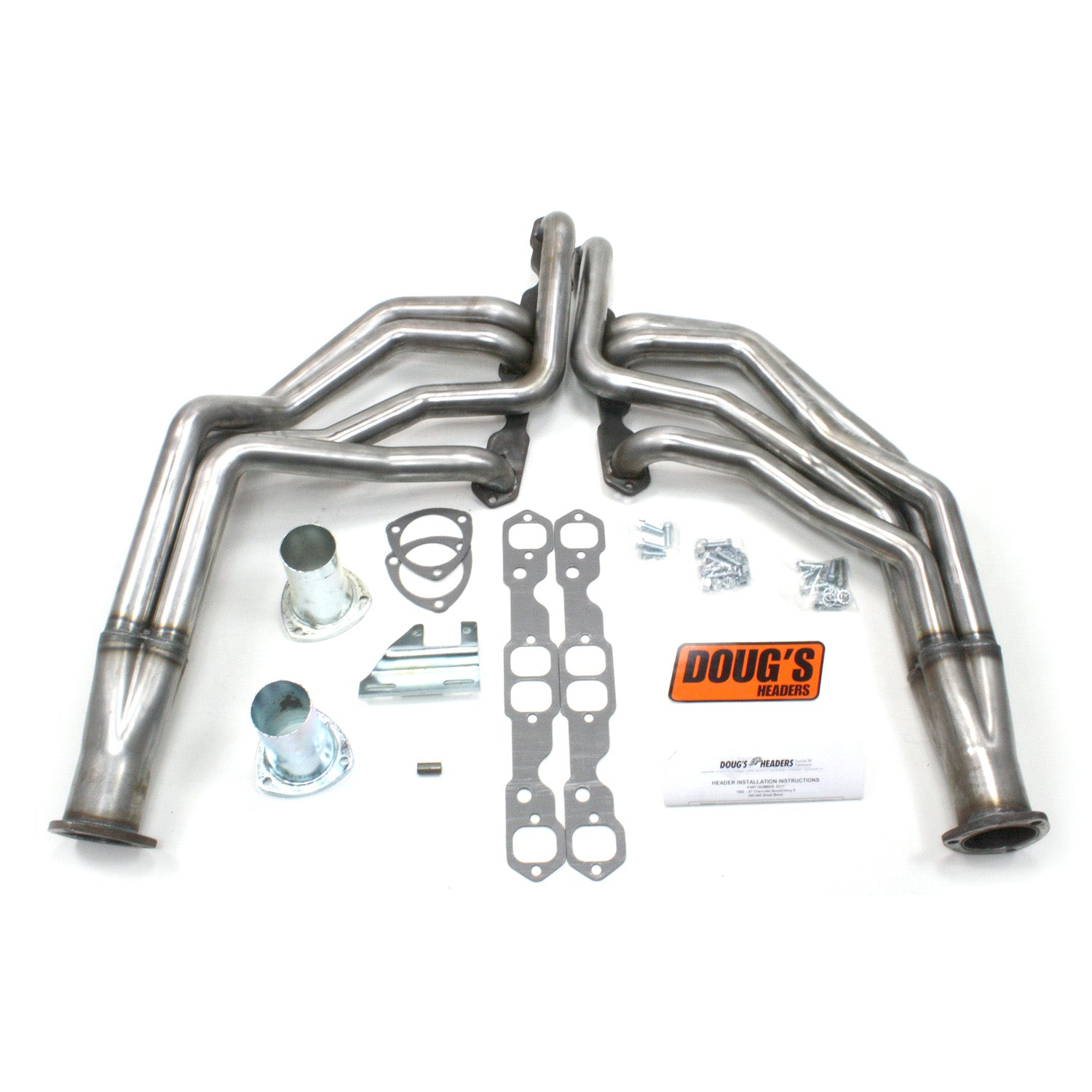 "Doug's Headers D317-R 1 3/4"" 4-Tube Full Length Header Chevy II Small Block Chevrolet 62-67 Raw Steel"