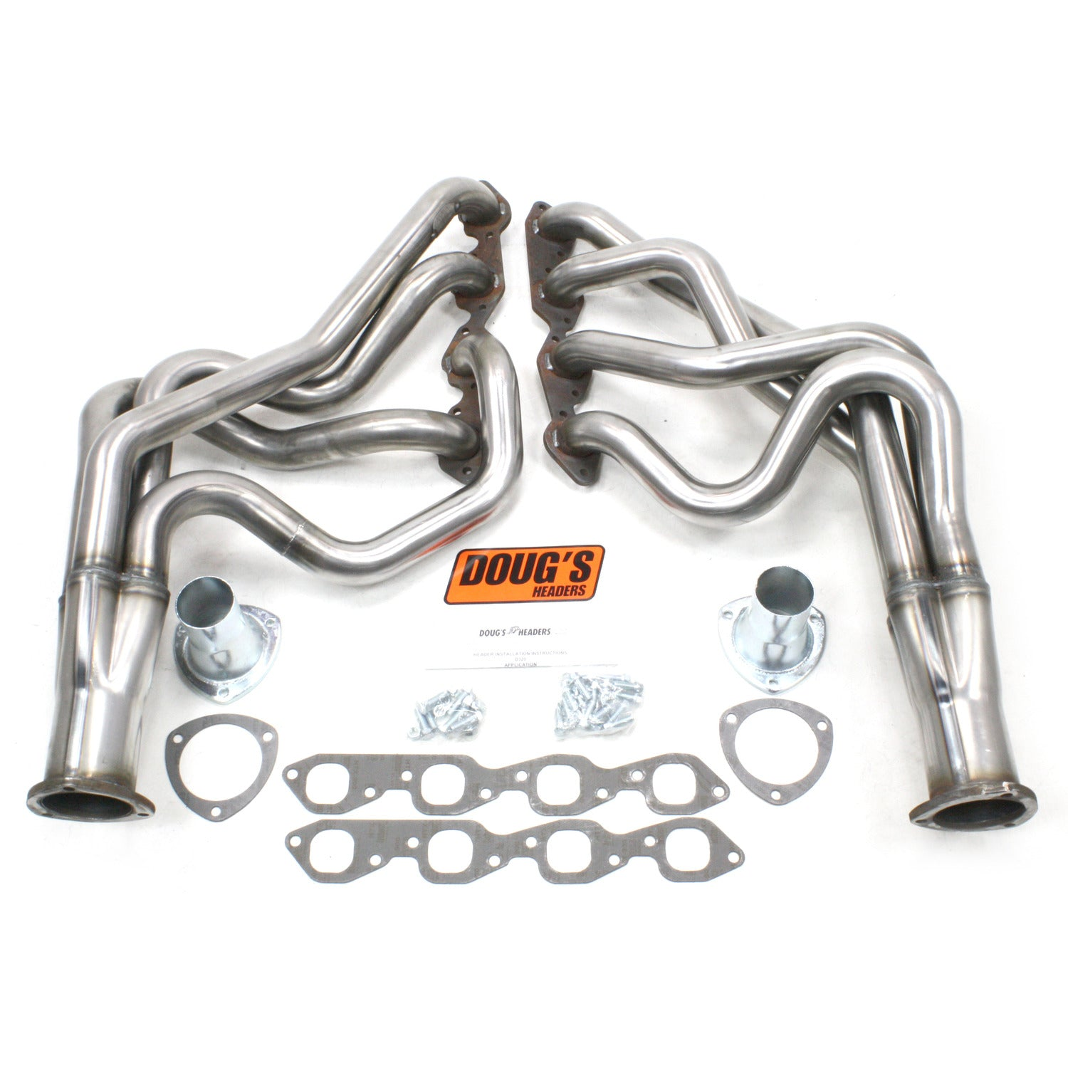 "Doug's Headers D320-R 2"" 4-Tube Full Length Header Chevrolet Camaro Big Block Chevrolet 67-69 Raw Steel"