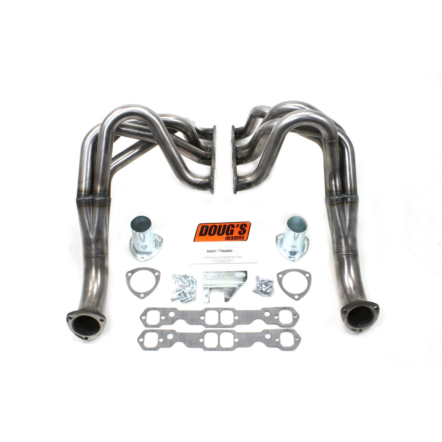 "Doug's Headers D329-R 1 3/4"" 4-Tube Full Length Header Chevy II Small Block Chevrolet 62-67 Raw Steel"