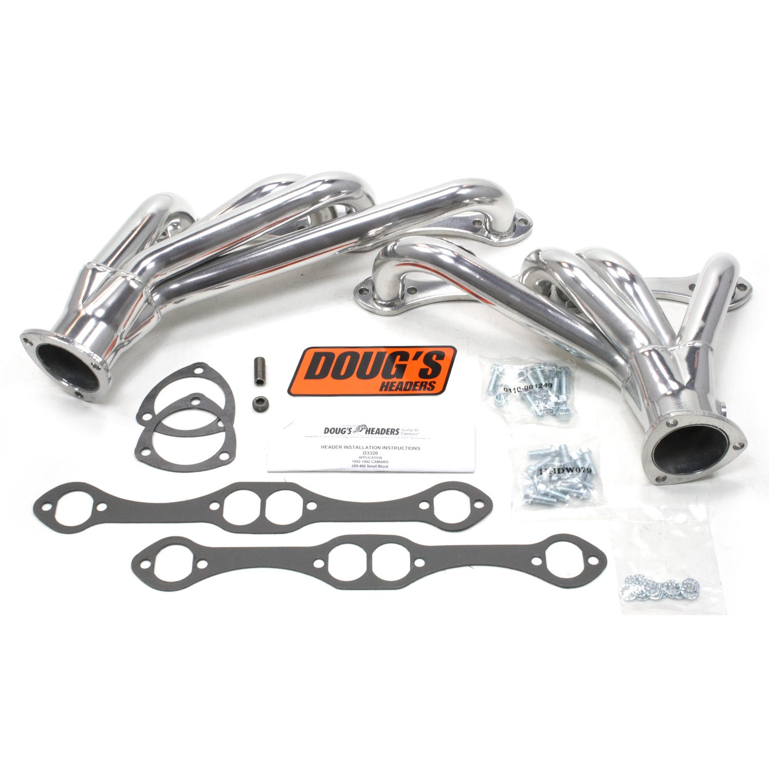 "Doug's Headers D3320 1 5/8"" 4-Tube Shorty Header Chevrolet Camaro Small Block Chevrolet 82-92 Metallic Ceramic Coating"
