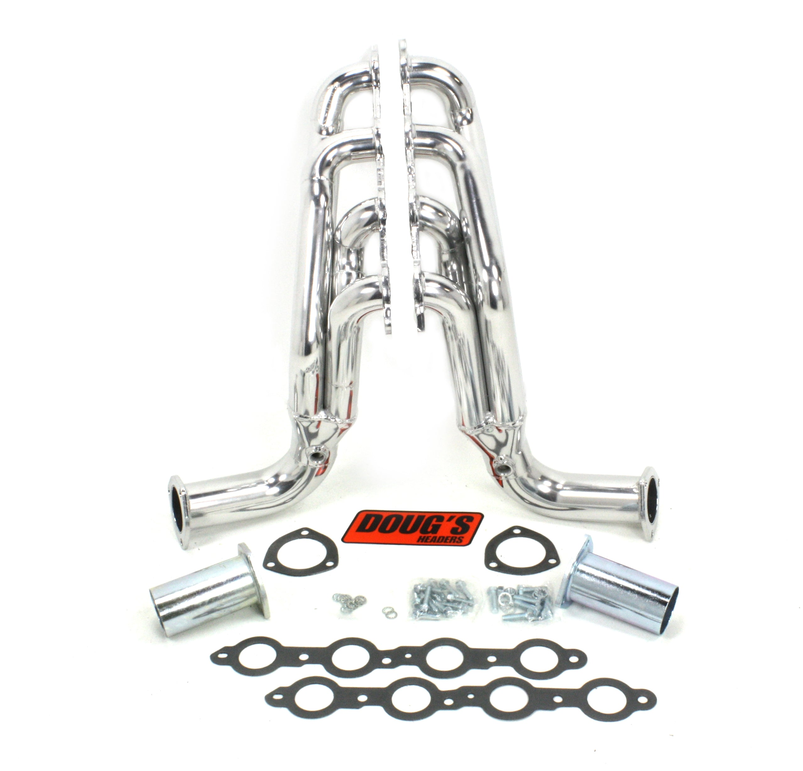 "Doug's Headers D3343 1 3/4"" 4-Tube Shorty Header Chevrolet Passenger Car/Wagon 58-64 LS1-LS6 Swap Metallic Ceramic Coating"