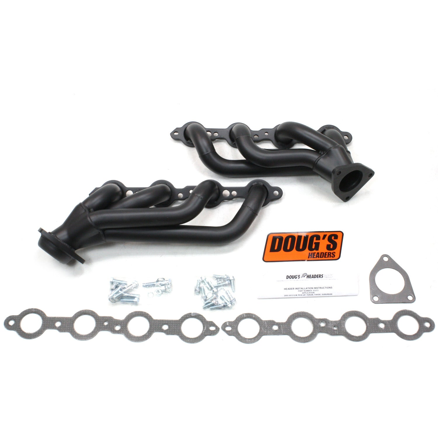 "Doug's Headers D3373-B 1 5/8"" 4-Tube Manifold Replacement Header Chevrolet Truck 5.3L 02-07 Hi-Temp Black Coating"