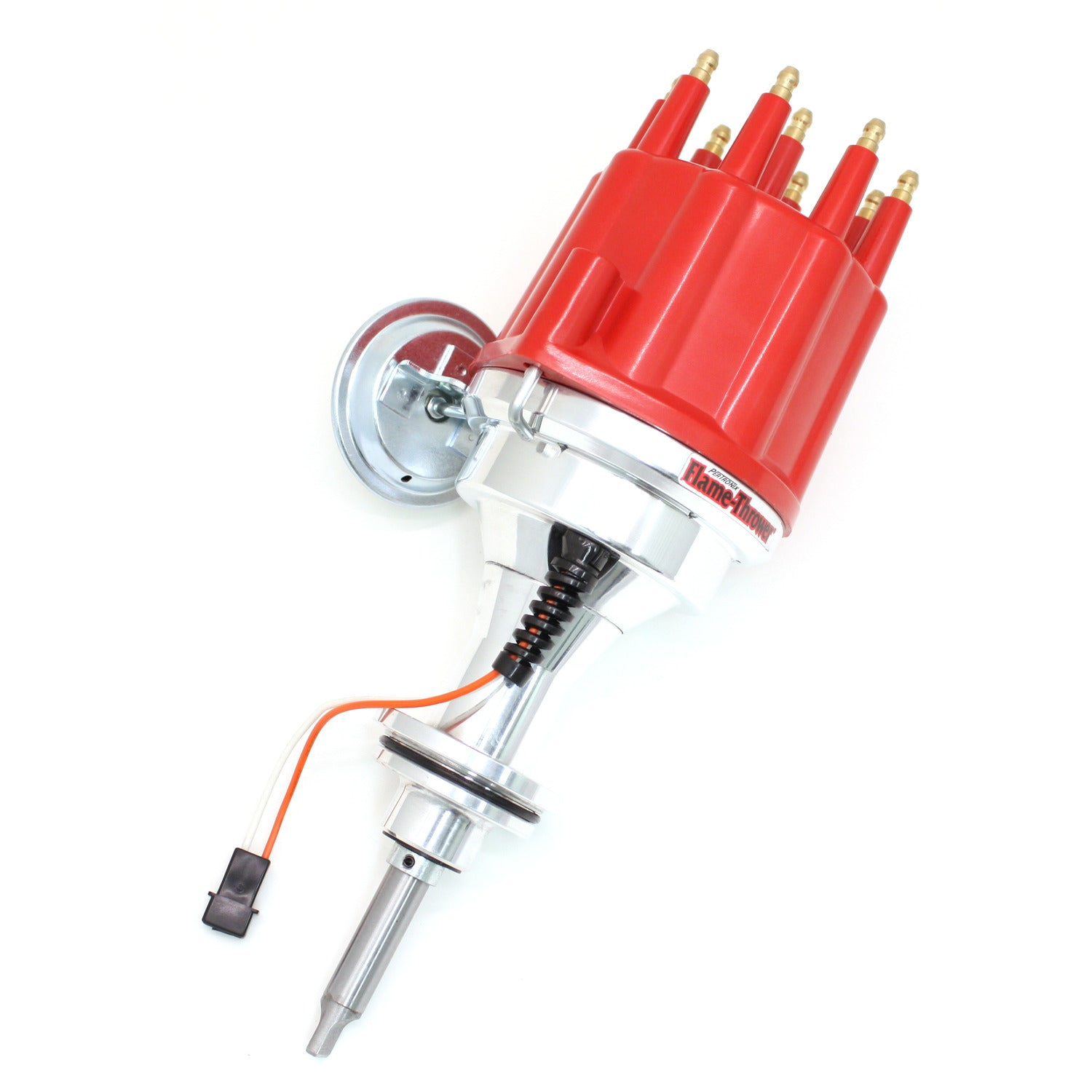 PerTronix D342711 Flame-Thrower Electronic Distributor Billet Magnetic Trigger Chrysler/Dodge/Plymouth 383-400 Red Male Cap Vacuum Advance