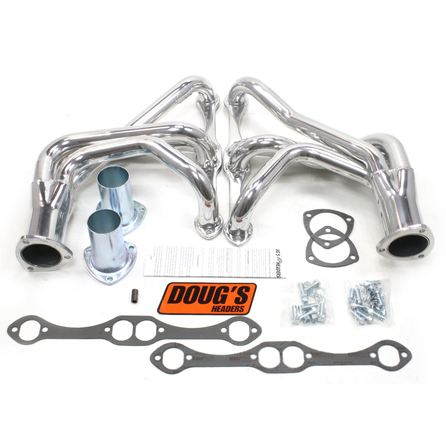 "Doug's Headers D350 1 5/8"" 4-Tube Full Length Header Chevrolet Corvette Small Block Chevrolet 63-74 Metallic Ceramic Coating"