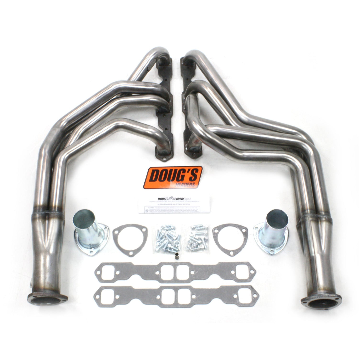 "Doug's Headers D353-R 1 3/4"" 4-Tube Full Length Header Chevrolet Pass Small Block Chevrolet 55-57 Raw Steel"