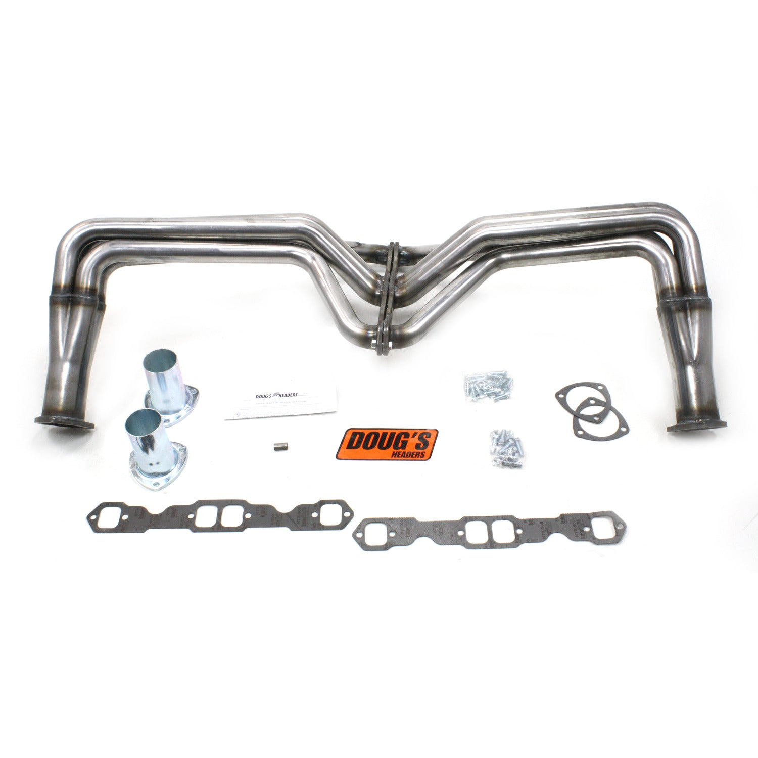 "Doug's Headers D355-R 1 3/4"" 4-Tube Full Length Header Chevrolet Pass Small Block Chevrolet 55-57 Raw Steel"