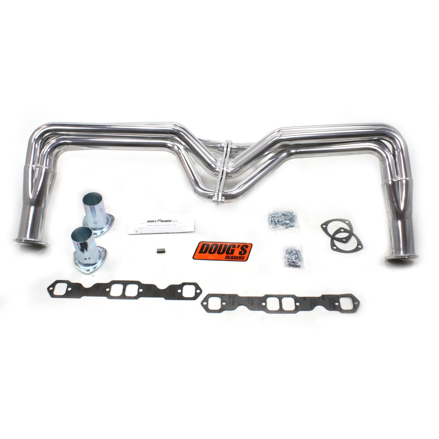 "Doug's Headers D355 1 3/4"" 4-Tube Full Length Header Chevrolet Pass Small Block Chevrolet 55-57 Metallic Ceramic Coating"