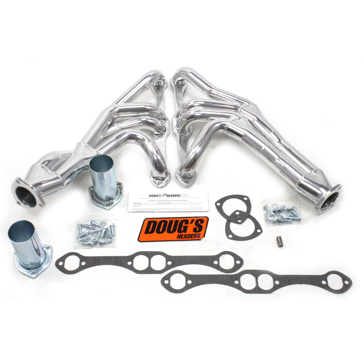 "Doug's Headers D357Y 1 5/8"" Tri-Y Header Chevrolet Passenger Car/Wagon Small Block Chevrolet 55-57 Metallic Ceramic Coating"