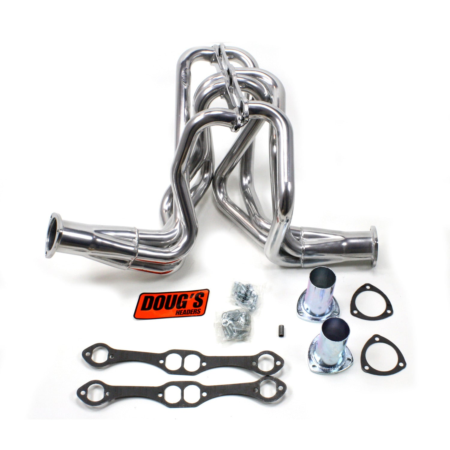 "Doug's Headers D358 1 5/8"" 4-Tube Full Length Header Chevrolet Pass Small Block Chevrolet 58-64 Metallic Ceramic Coating"
