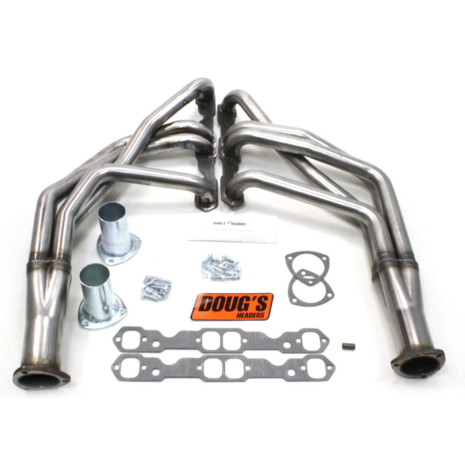 "Doug's Headers D368-R 1 3/4"" 4-Tube Full Length Header Chevrolet Camaro Small Block Chevrolet 67-69 Raw Steel"