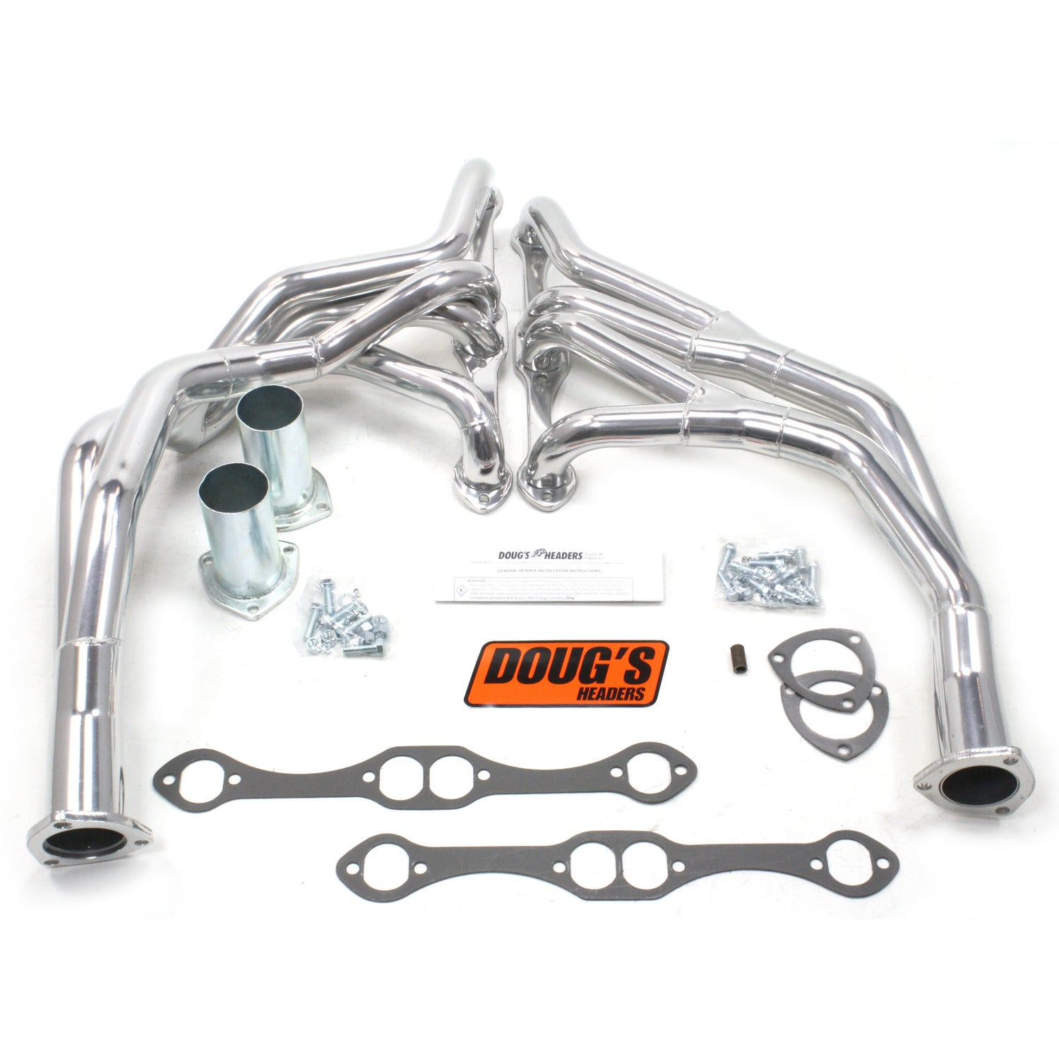 "Doug's Headers D371Y 1 5/8"" Tri-Y Header Chevrolet Truck Small Block Chevrolet 67-72 Metallic Ceramic Coating"