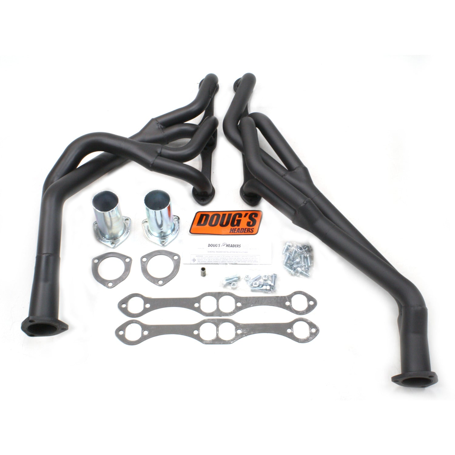 "Doug's Headers D376Y-B 1 5/8"" Tri-Y Header Chevrolet Chevelle Small Block Chevrolet 64-67 Hi-Temp Black Coating"