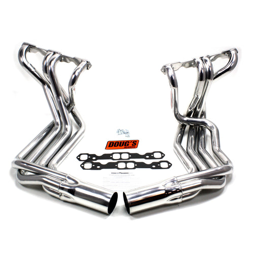 "Doug's Headers D380 1 7/8"" 4-Tube Full Length Header Chevrolet Corvette Small Block Chevrolet 63-82 Sidemount Metallic Ceramic Coating"