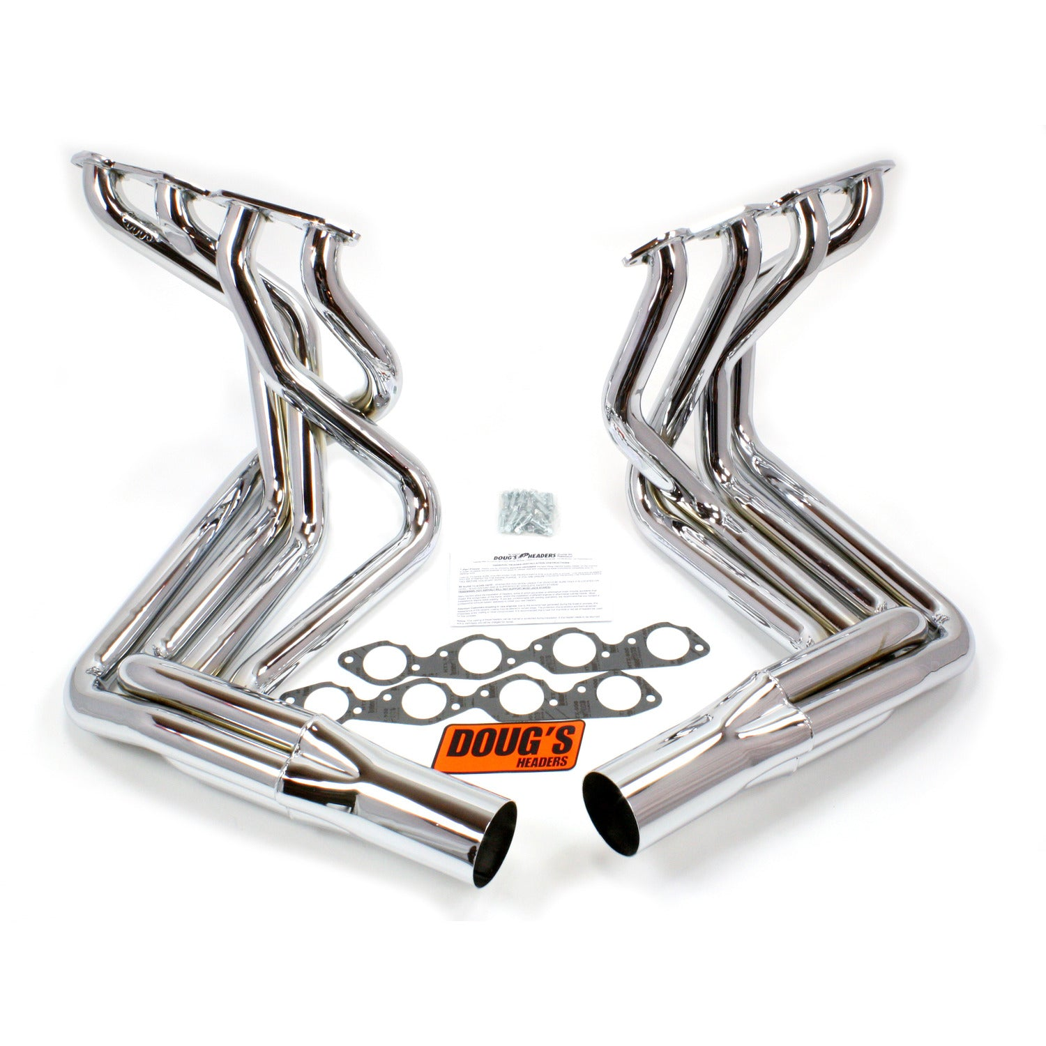 "Doug's Headers D381-C 2 1/8"" 4-Tube Full Length Header Chevrolet Corvette Big Block Chevrolet 63-82 Sidemount Chrome"