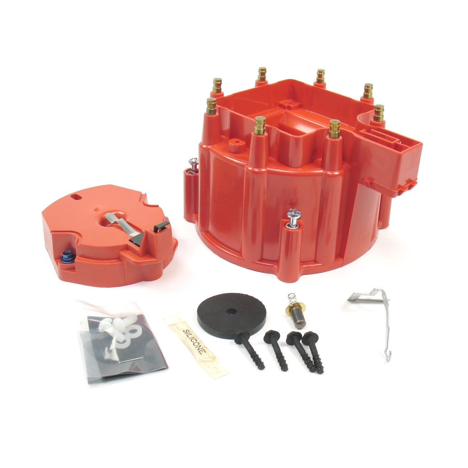 PerTronix D4001 Flame-Thrower HEI Distributor Cap and Rotor Kit Red