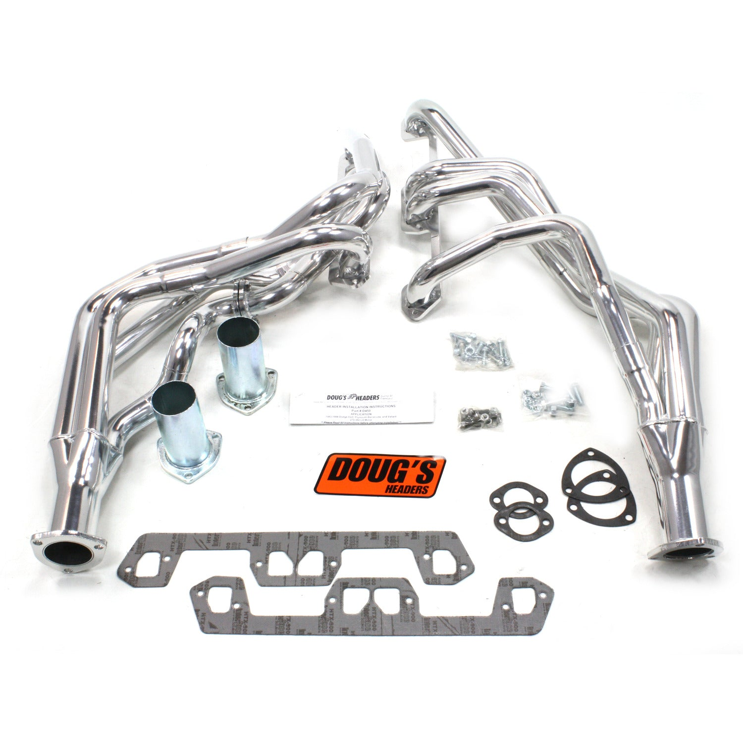 "Doug's Headers D450 1 5/8"" 4-Tube Full Length Header Mopar Dart Small Block Mopar 63-66 Metallic Ceramic Coating"