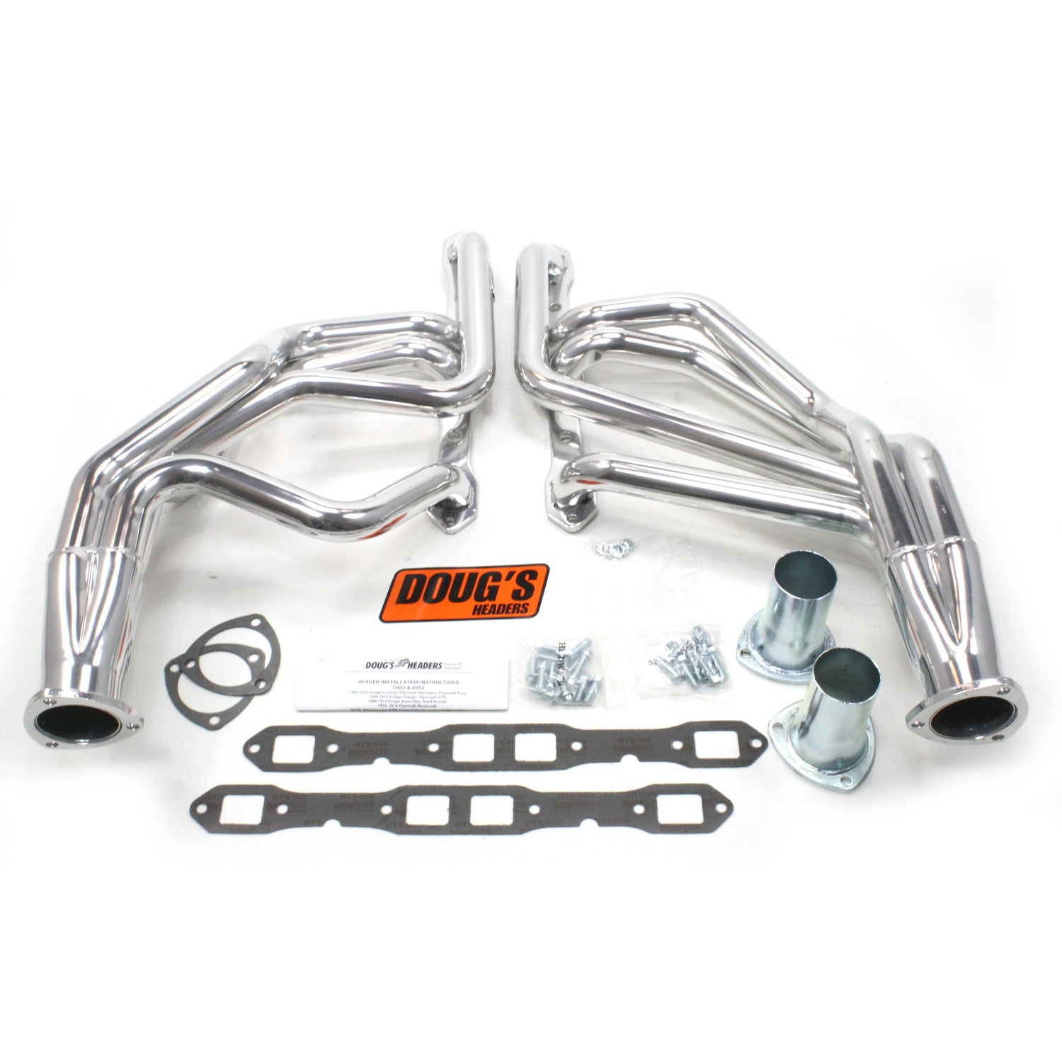 "Doug's Headers D451 1 3/4"" 4-Tube Full Length Header Mopar B Body Big Block Mopar 62-72 Metallic Ceramic Coating"