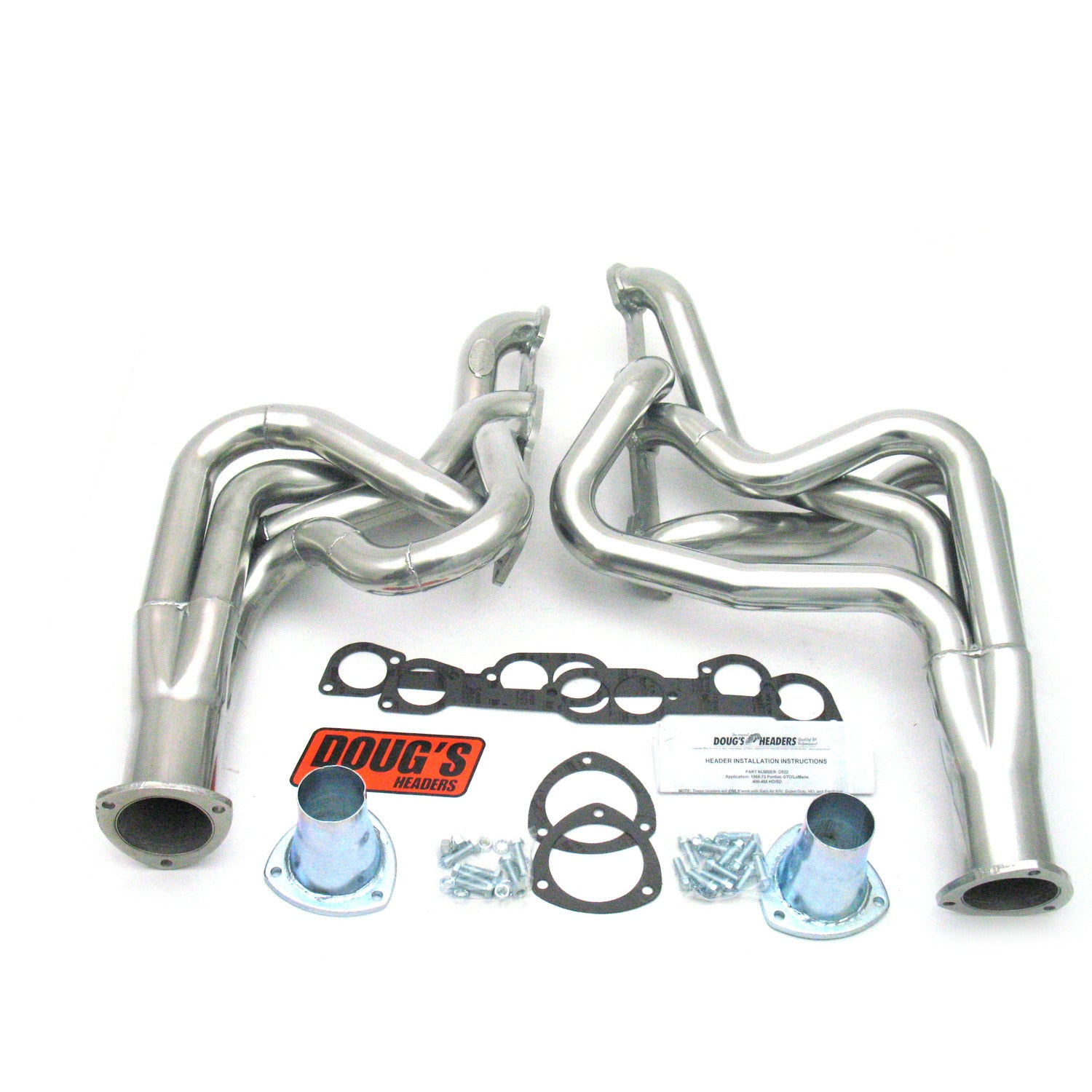 "Doug's Headers D522 2"" 4-Tube Full Length Header Pontiac GTO 400-455 68-72 Metallic Ceramic Coating"