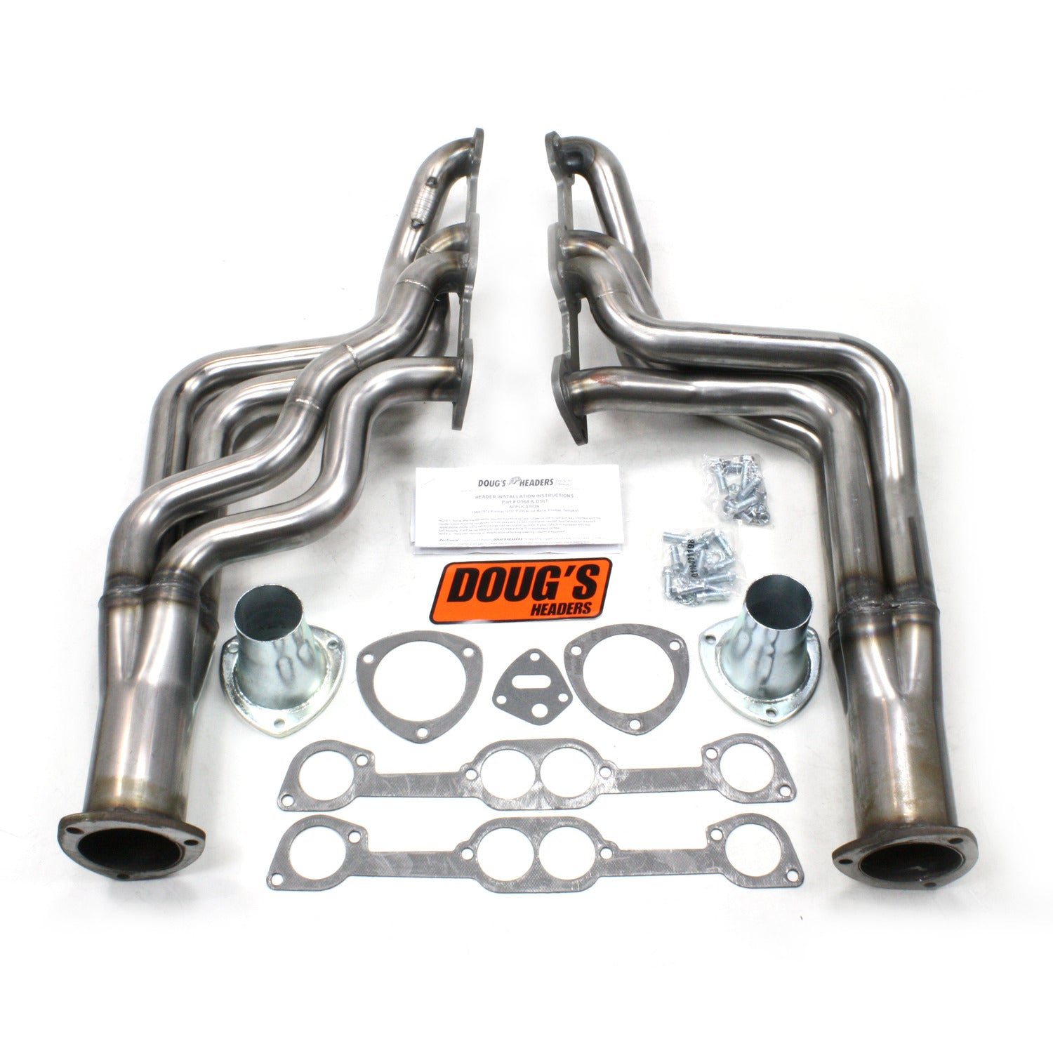 "Doug's Headers D567-R 1 7/8"" 4-Tube Full Length Header Pontiac GTO 326-455 64-72 Raw Steel"