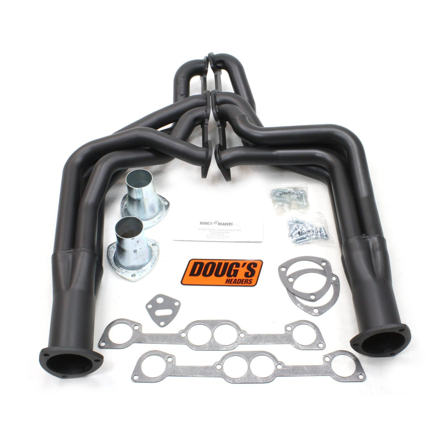 "Doug's Headers D568-B 1 7/8"" 4-Tube Full Length Header Pontiac Firebird 326-455 67-69 Hi-Temp Black Coating"