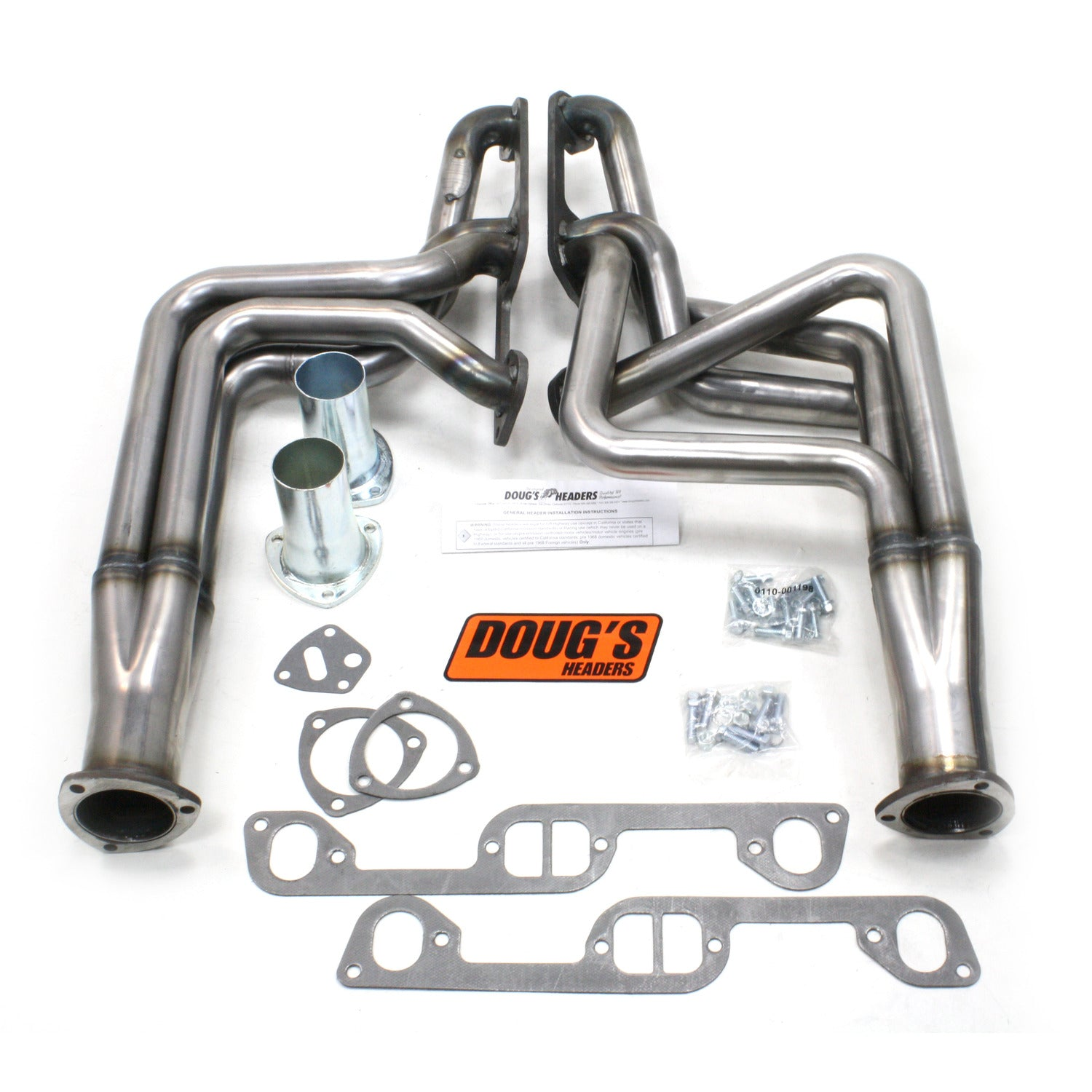 "Doug's Headers D570-R 1 3/4"" 4-Tube Full Length Header Pontiac Firebird 326-455 70-81 Raw Steel"
