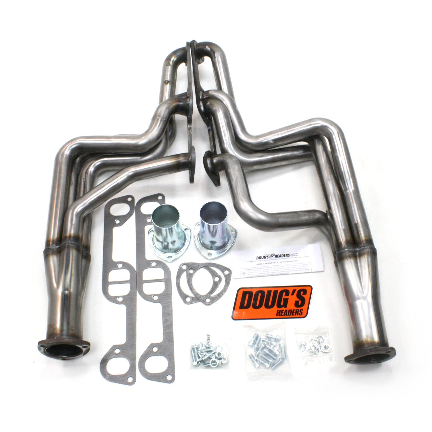 "Doug's Headers D590-R 1 3/4"" 4-Tube Full Length Header Pontiac GTO 326-455 68-72 Raw Steel"